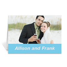 Baby Blue Wedding Photo Cards, 5x7 Folded Simple