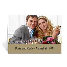 Timeless Gold Wedding Photo Cards, 5x7 Folded Simple