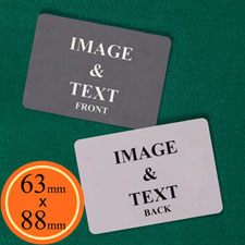 63 x 88mm Custom Cards (Blank Cards) Landscape