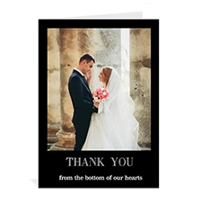 Classic Black Wedding Photo Cards, 5x7 Portrait Folded