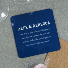 Background Color & Text (One coaster)