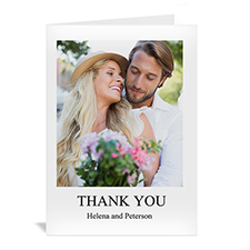 Classic White Wedding Photo Cards, 5x7 Portrait Folded
