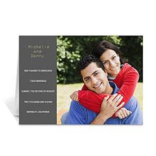 Classic Grey Wedding Photo Cards, 5x7 Folded Modern