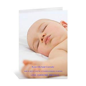 Baby Photo Cards, 5x7 Portrait Folded