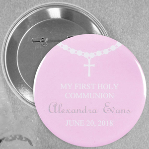 Circle Baby Girl Baptism Necklace