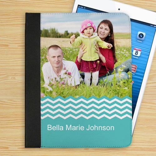 Aqua Chevron Personalized Photo_copy