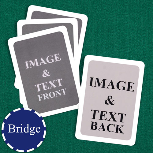 Bridge Size Custom Cards (Blank Cards) White Border