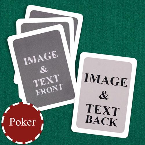 Poker Custom Cards (Blank Cards) White Border