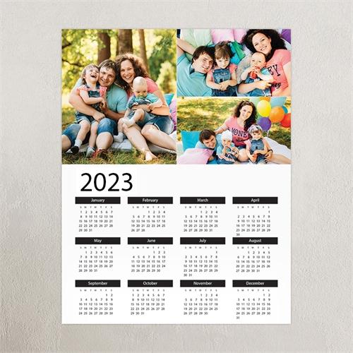 Large White Portrait Three Collage 20X30 Poster Print Calendar
