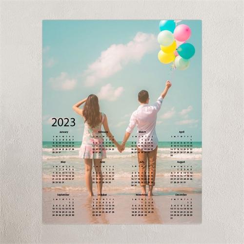 Grey Portrait 12X18 Photo Poster Print Calendar 2020
