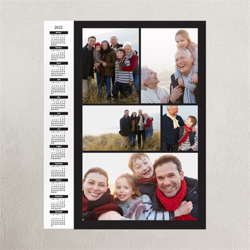 Black Portrait Five Collage 11X14 Personalized Poster Calendar 2020