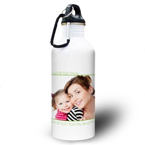 Personalized Photo Lime Picture Perfect Water Bottle