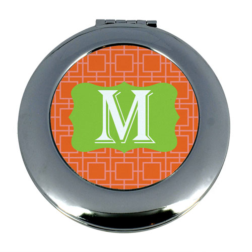 Orange Greekkey Monogram
