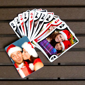 Personalized Christmas Holiday Photo Playing Cards Favors