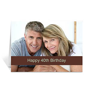 Chocolate Photo Birthday Cards, 5x7 Folded Causal