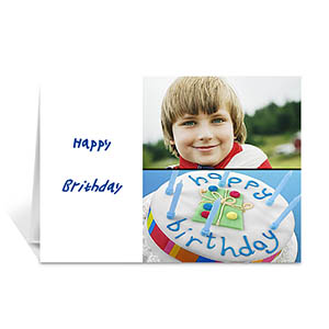 Elegant Collage White Birthday Greetings
