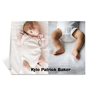 Classic Two Photo Collage Baby Card