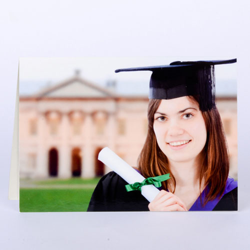 Full Photo Graduation Thank You Card, Landscape