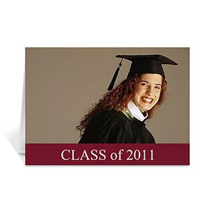 Graduation Announcement, Stylish Red