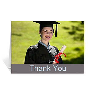 Graduation Thank You Card, Stylish Grey