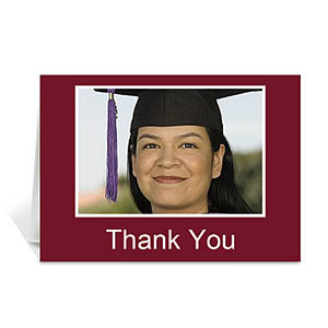 Graduation Thank You Card, Many Memories Red