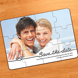 Piece Together Save the Date, Classic Grey