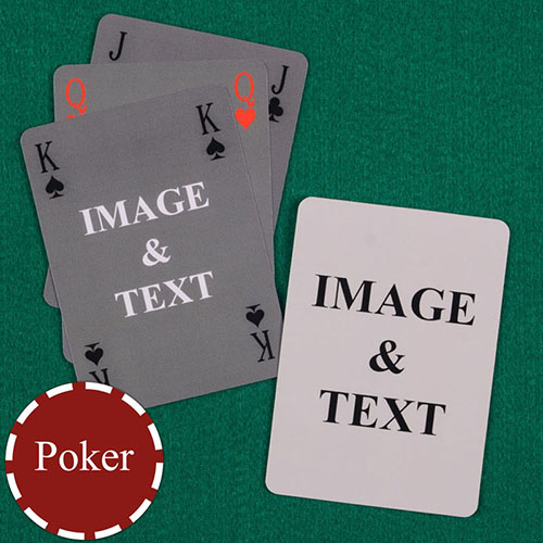 Simple Bridge Style Poker Size Custom Front and Back Playing Cards