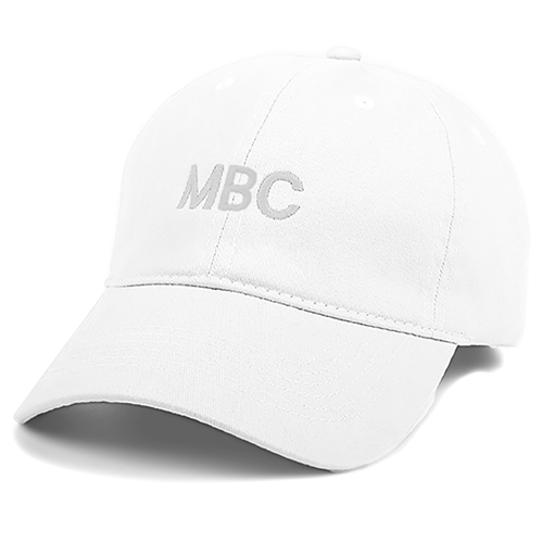 Monogrammed Embroidery Baseball Cap, White