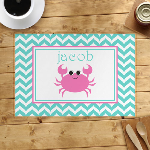Chevron Pink Crab