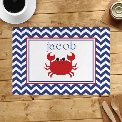 Chevron Red Crab