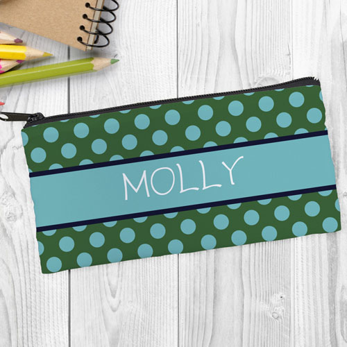 Green Aqua Polka Dot