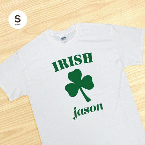Personalized Irish, White T Shirt
