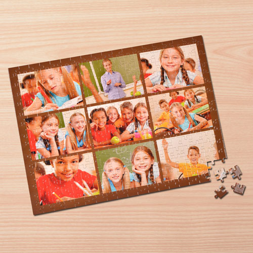 Nine Collage Photo Puzzle, Coco Brown