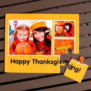 Personalized Thanksgiving Gift Favors Photo Puzzle
