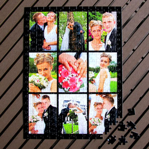 Personalized Large Photo Puzzle Wedding Anniversary Favors