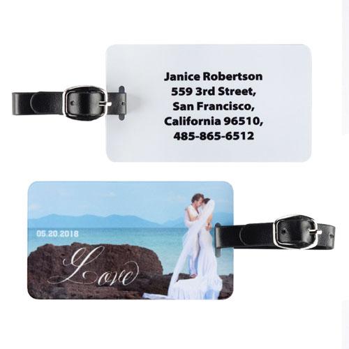 Script Love Personalized Luggage Tag