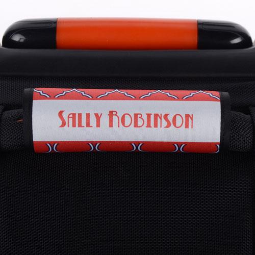 Pink Purple Quatrefoil Personalized Luggage Handle Wrap