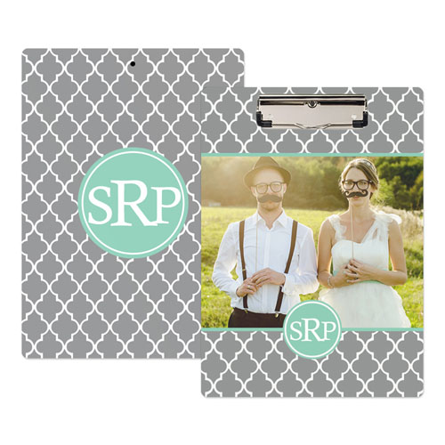 Grey Clover Photo Personalized Clipboard