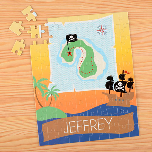 Pirate Personalized Name Kids Puzzle, 8x10