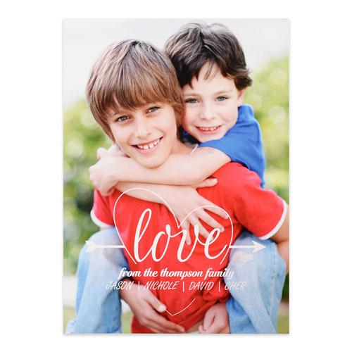 Heart & Arrow Personalized Photo Valentine's Card, 5x7 Flat