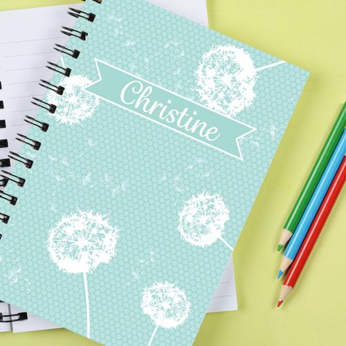 Dandelion Personalized Notebook