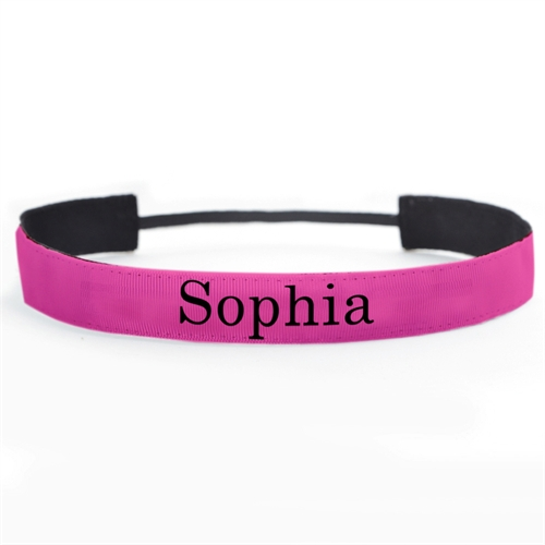 Hot Pink Personalized Name 1 Inch Headband