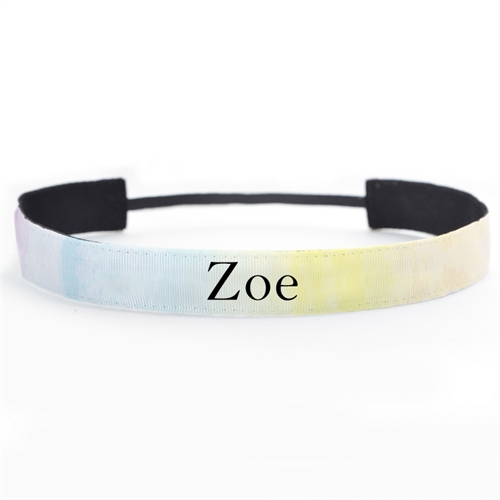 Watercolor Custom Name 1 Inch Headband