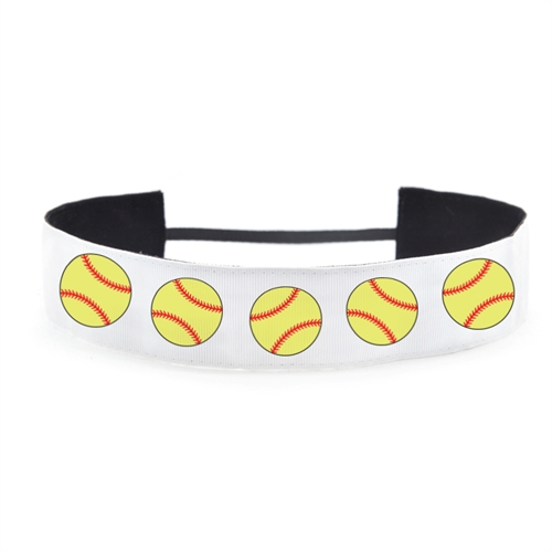 Softball Personalized Name 1.5 Inch Headband