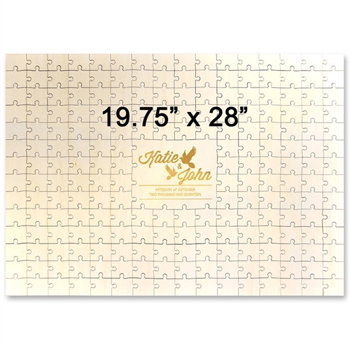 19.75 x 28 Engraved Wooden Guestbook Jigsaw Puzzle (209 pieces)