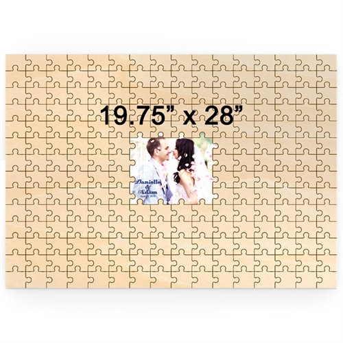 19.75 x 28 Custom Printed Middle Wooden Guestbook Puzzle (209 pieces)