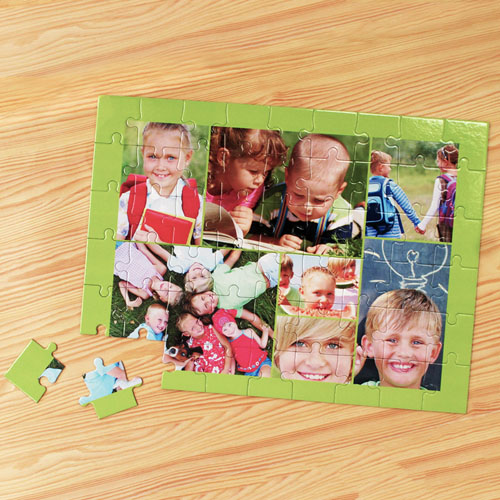 7 Photo Jigsaw, Apple Green