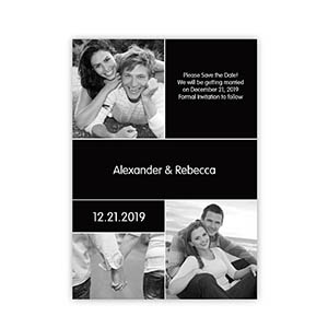 My Save the Date, 3 Pictures Collage Black