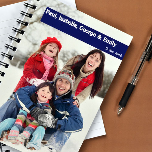 Full Photo Blue One Title Notebook
