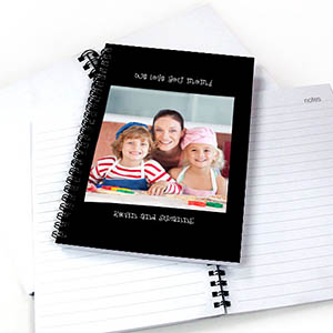 Portrait Photo Black Two Title Notebook